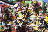 Statuen gemacht langweilig Colorof der Geschichte drei Königreich — Stockfoto