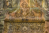 Sandstone carvings of Hindu gods — Stock Photo