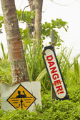 Danger & current warning — Stock Photo