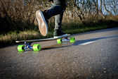 Stepping forward on a skateboard — Stock Photo