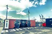 Arte contenitore porto di auckland — Foto Stock