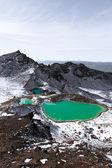 Emerald lakes, tramping the Tongariro crossing — Stock Photo