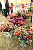 Florista no mercado. — Fotografia Stock