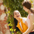 Stockfoto: Two Girls Share Joke
