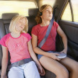 Girls In A Car — Foto Stock