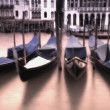 Gondolas In The Grand Canal — Stock Photo