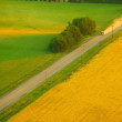 A Highway And Farm Land — Stock Photo
