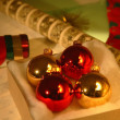 Christmas Decorations And Wrapping Paper — 图库照片