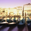 Gondolas On The Grand Canal — Stock Photo