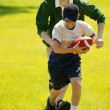 Boys Playing Football — Stockfoto
