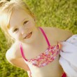 Child With Bathing Suit And Towel — Stock Photo