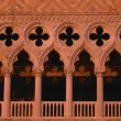 facade of doge palace in warm tones venice italy — Stock Photo