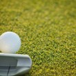 Closeup Of Putter And Ball — Stock Photo