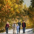 Family Goes For A Hike — Stock Photo