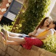 Stock Photo: Two Teenage Girls