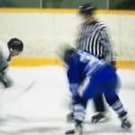Hockey Face Off — Stock Photo