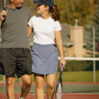 Couple In Tennis Court — Stockfoto