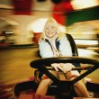 Girl On A Ride — Stock Photo