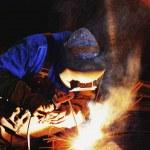 High Pressure Pipe Welder — Stock Photo