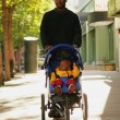 Stock Photo: Father And Child On Walk