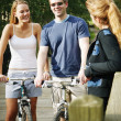 Couple On Bikes — Stock Photo