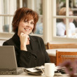 Businesswoman In Cafe — Stock Photo #31605037