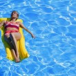 Woman In Swimming Pool — Stock Photo