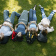 A Group Of Young People Napping — Stock Photo