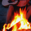 Playing Guitar By A Bonfire — Stock Photo #31608425