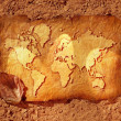 A Map Of The World — Stockfoto