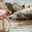 Stock Photo: Child Splashes In Water