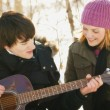 Serenading A Girl — Stockfoto
