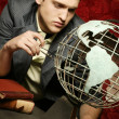 Businessman Contemplating The World — Stock Photo