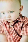 Little boy in shirt — Stock Photo