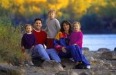 Friendly Family Outdoors Portrait — Stock Photo