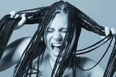 Pulling Out Your Hair — Stock Photo