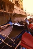 Gondolas In The Canal Venice Italy — Foto Stock