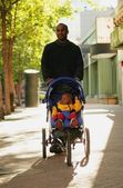 Father And Child On A Walk — Stock Photo