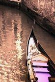 Gondel in het canal venetië italië — Stockfoto