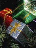 Christmas Tree Presents Decorations — Stockfoto