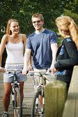 Couple On Bikes — Stock Photo
