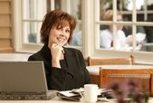 Businesswoman In Cafe — Stock Photo