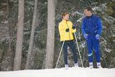 A Couple Of Cross Country Skiers — Stock Photo