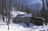 Remote Log Cabin In Winter — Stock Photo