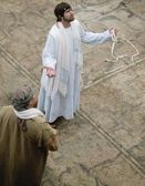 Jesus With A Whip — Stock Photo