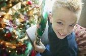 Child Holds A Present — Stock Photo
