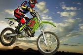 Motocrossförare — Stockfoto