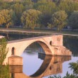 Stock Photo: Avignon From Rhone River Provence France