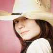 Portrait Of Cowgirl — Stock Photo