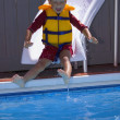 Boy On Waterslide — Stock Photo #31611339
